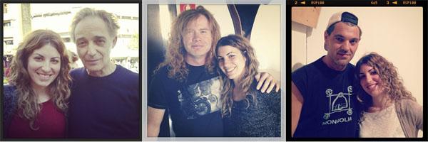 Algunos entrevistados: el fotógrafo Alberto G. Alix, el músico Dave Mustaine y el defensor de las serpientes Frank de la Jungla.